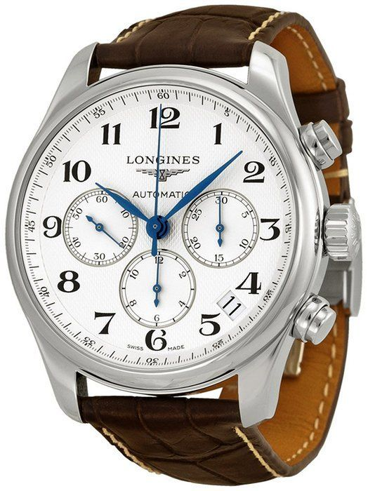 Longines Master Collection Chronograph Stainless Steel Mens Watch L26934783 - mens watches black stainless steel, mens watches online shopping, mens watches black and gold