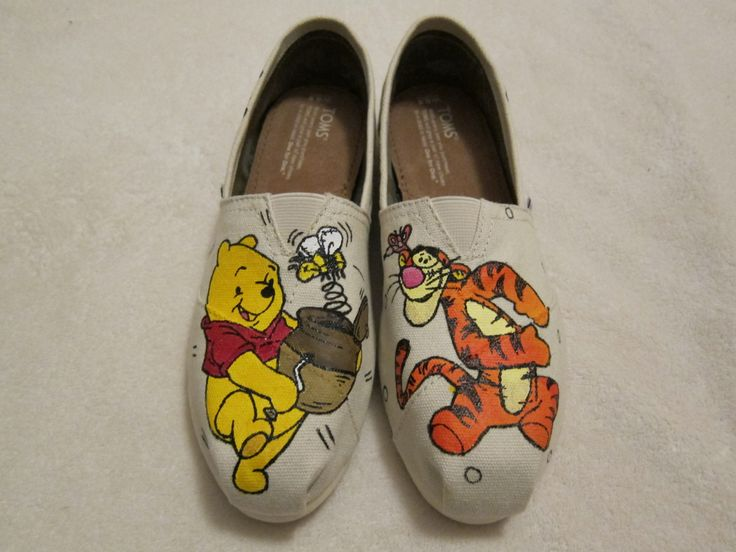 CUSTOM HAND PAINTED Toms canvas shoes flats.