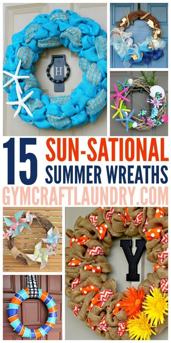 15 Summer Gel Nails: Crafts, Summer Wreath And Home