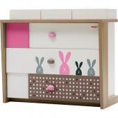 NewJoy комод newjoy bunny  — 34398р. --------------------------- производитель: newjoy  особенности комода newjoy bunny: комод newjoy bunny станет прекрасным дополнением к мебели любой детской комнаты. он поможет создать теплую гармоничную атмосферу за счет своих нежных естественных цветов и поднимет настроение малышу своими рисунками в виде улыбающихся зайчат. практичный атрибут детской комнаты — комод newjoy bunny, вместит вещи ребенка, а также постельные принадлежности. использование в…