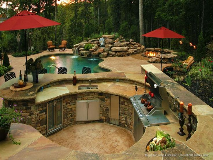 Genial 47 Outdoor Kitchen Designs And Ideas | Kitchen Design, Kitchens And Backyard