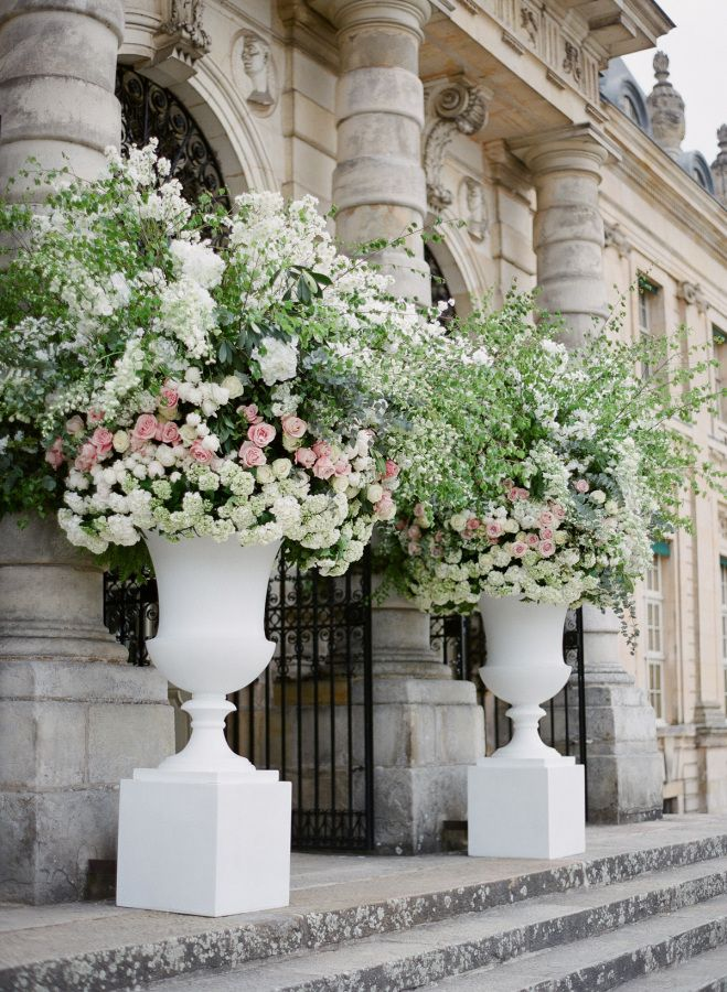 Hydrangea rose and greenery florals: http://www.stylemepretty.com/2017/02/22/a-parisian-dream-wedding-that-all-starts-with-a-couture-gown/ Photography: Greg Finck - http://www.gregfinck.com/ Assistant Photography: Marie Film - http://www.marie-filmphotographer.com/ and Oliver Fly - http://oliverfly.com/