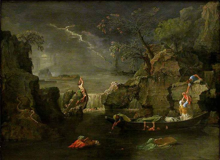 Nicolas POUSSIN, L'Hiver ou Le Déluge 1660 - 1664 H. : 1,18 m. ; L. : 1,60 m.