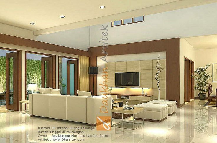 Sketsa 3D Ruang Keluarga Rumah Minimalis di kota Pekalongan.  #arsitek dan #interior by www.DParsitek.com