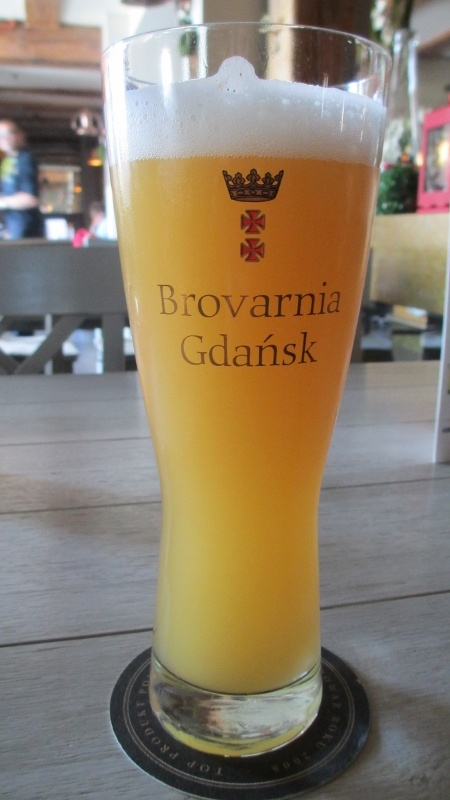 Delicious, freshly brewed wheat beer from Browarnia Gdansk inside Gdansk Hotel. www.polandculinaryvacations.com