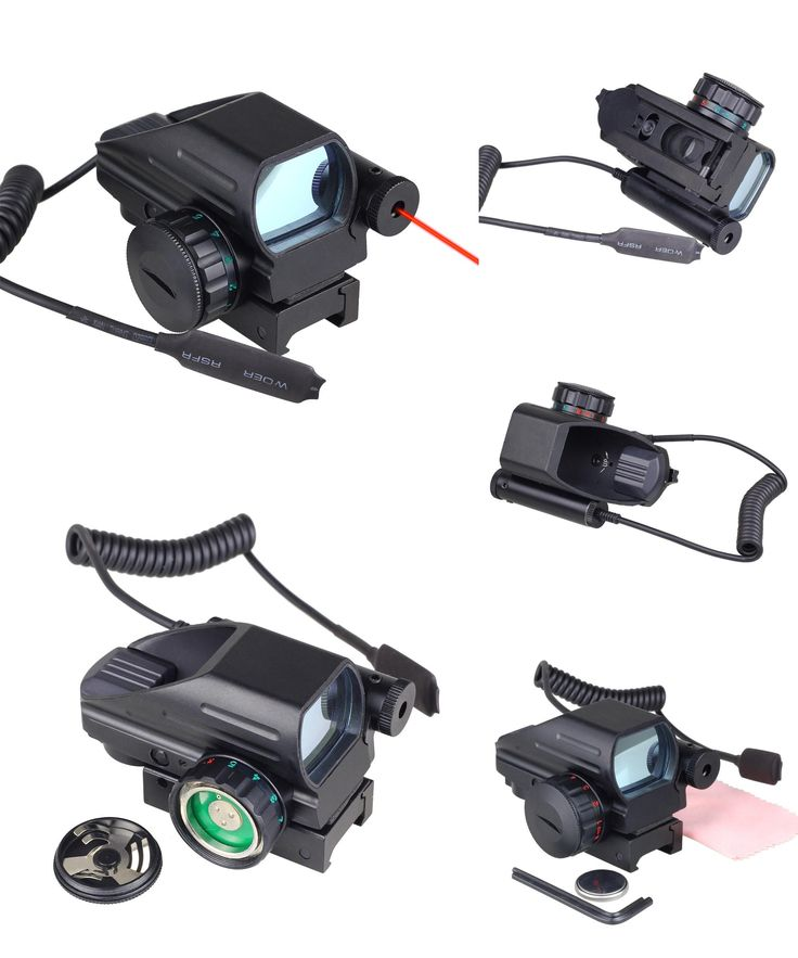 [Visit to Buy] Holographic Laser Sight Scope Reflex 4 Red Green Dot Reticle Picatinny Rail 20mm for AR Rifle 12ga Shotgun Airsoft Hunting #Advertisement