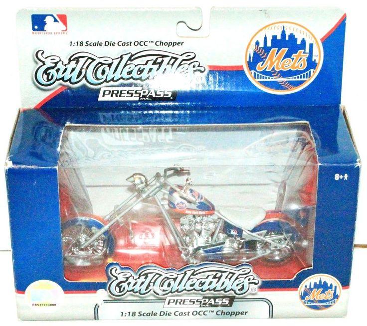 NEW YORK NY METS BASEBALL DIECAST MOTORCYCLE ERTL MLB 1:18 TOY OCC CHOPPER 2007 #ERTLCOLLECTIBLES #NewYorkMets