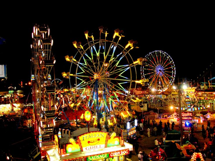 carnivals amp fairs at night carnivals pinterest