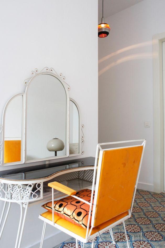 Cement tiles Bedroom - Chateau 04 - Project van Designtegels.nl