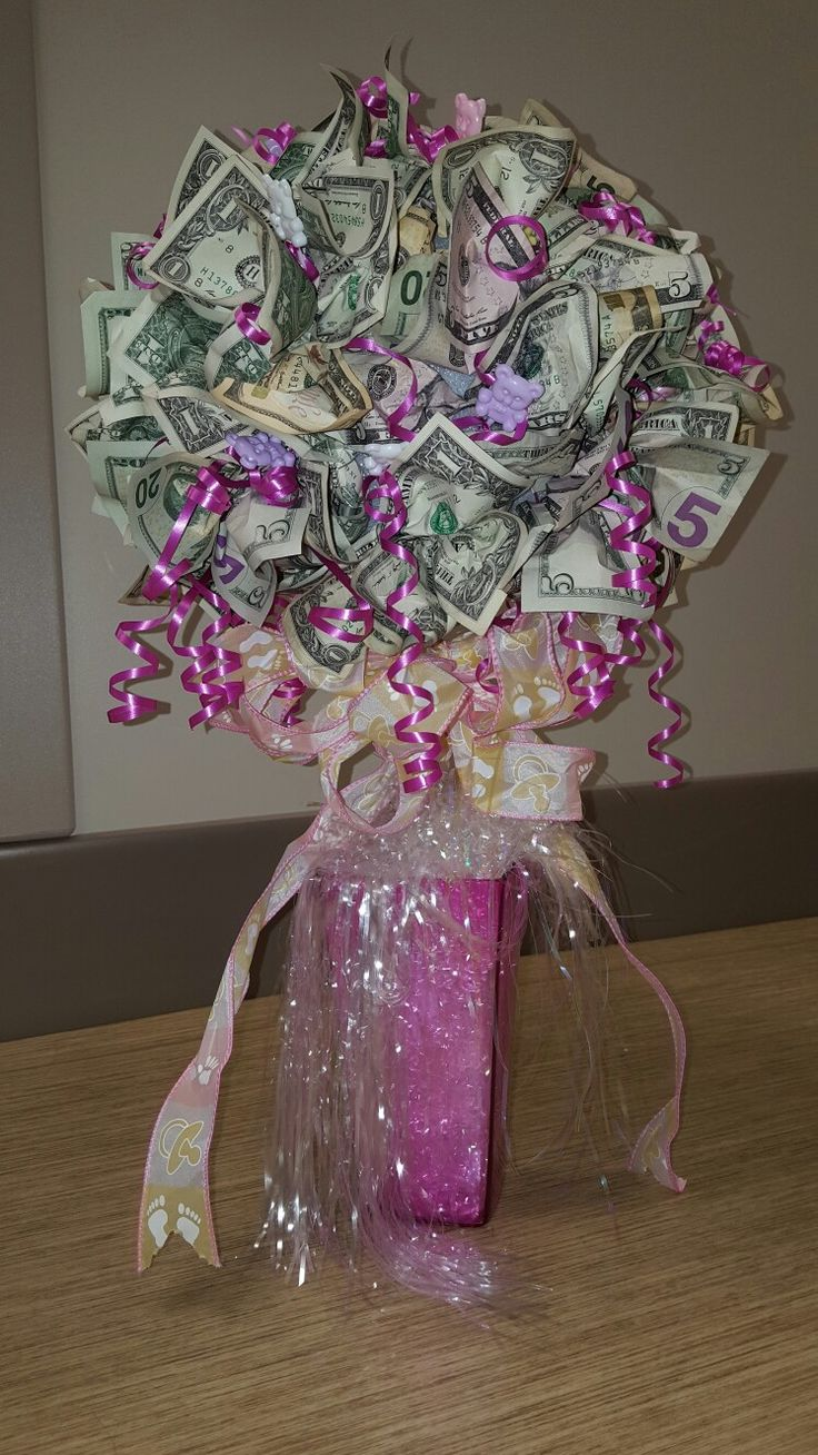 Baby shower money tree