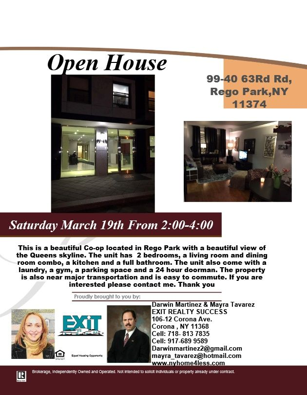 Open House Today Saturday March 19th From 2:00 4:00pm If You