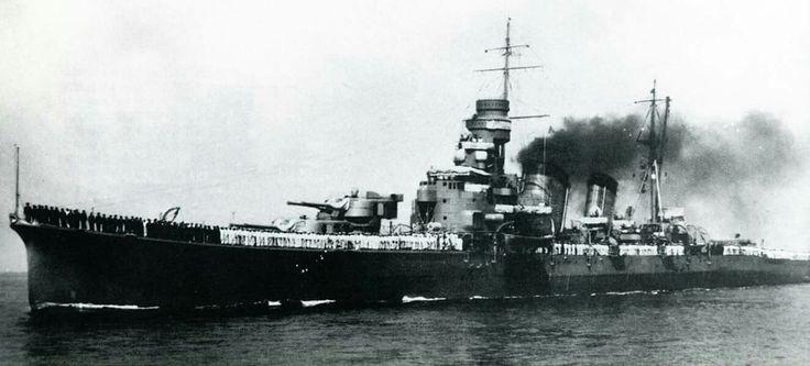 One of the Japanese ships that fought  at Savo Island, the Kinugasa.