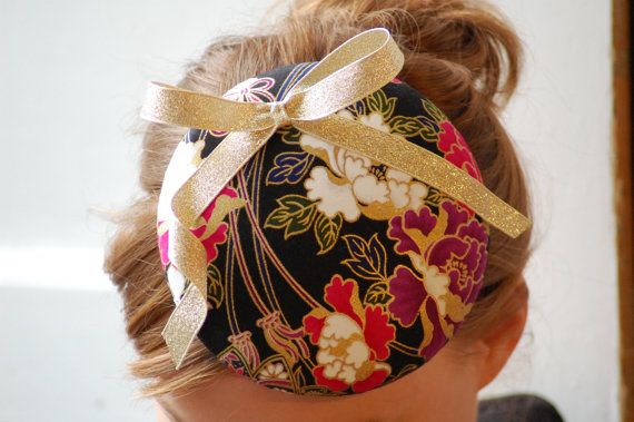 'Vivienne' vintage style black + gold pillbox wedding hat HeatherFeatherDesign £45.00