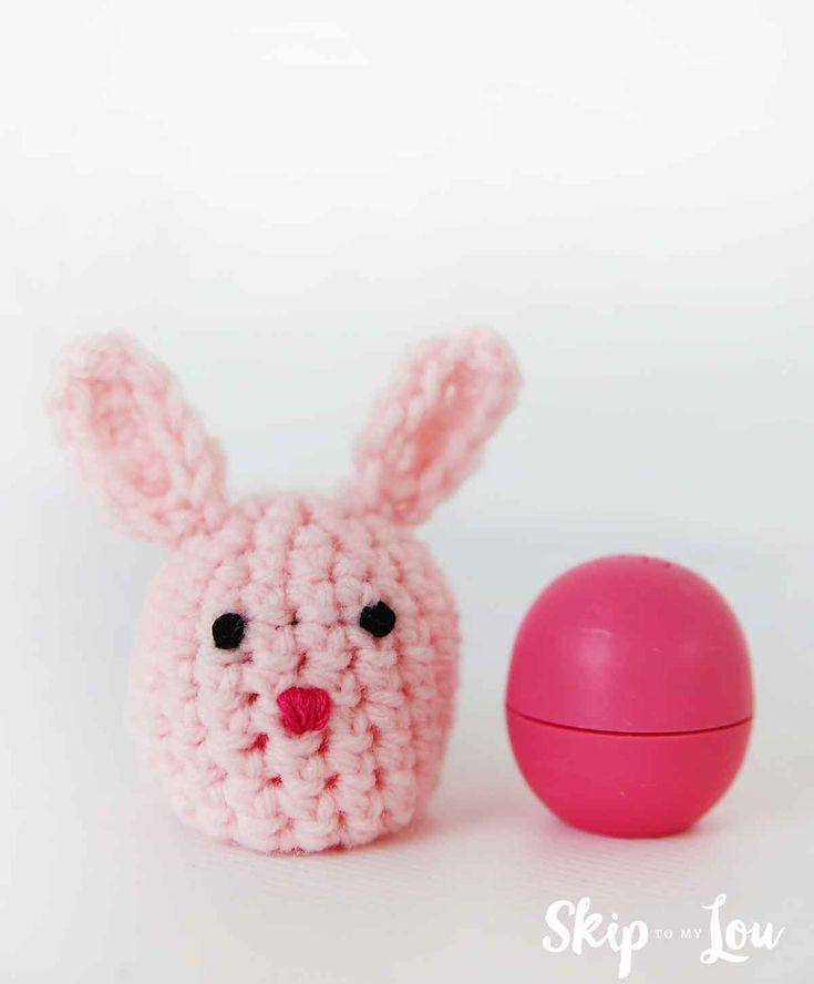 1200 best easter images on pinterest sandwiches aesop and baking free crochet bunny pattern to hold an eos lipgloss this adorable little rabbit makes the negle Choice Image