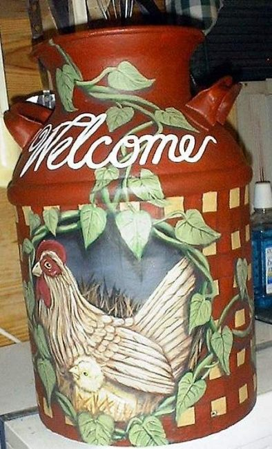 1000 ideas about painted milk cans on pinterest milk for Old milk can decorating ideas