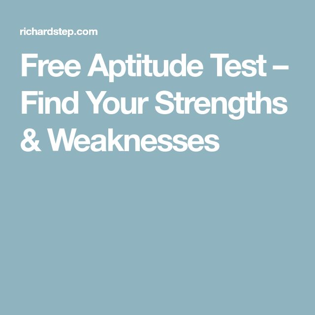 Free Aptitude Test – Find Your Strengths & Weaknesses