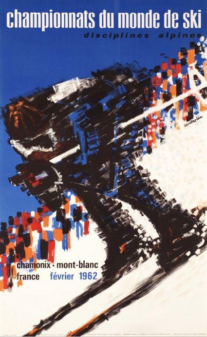 By Cromieres Constantin, 1 9 6 2 , Chamonix Mont-Blanc, Championnats du monde de Ski. (F)