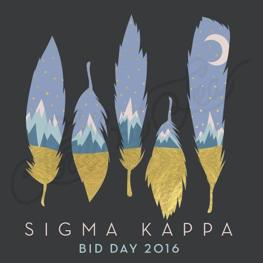 Sorority Recruitment Sigma Kappa Mountain Feather Bid Day South By Sea