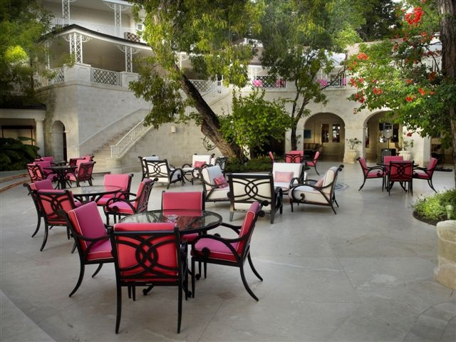 The Lower Terrace at Sandy Lane. Experience Afternoon Tea here daily from 3pm.