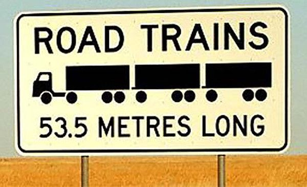 177ft long! That's a whole lot of road. | 29 Signs You'll Only See In The Outback