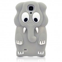 Grey Elephant Soft Rubber Case for Samsung Galaxy S4 i9500