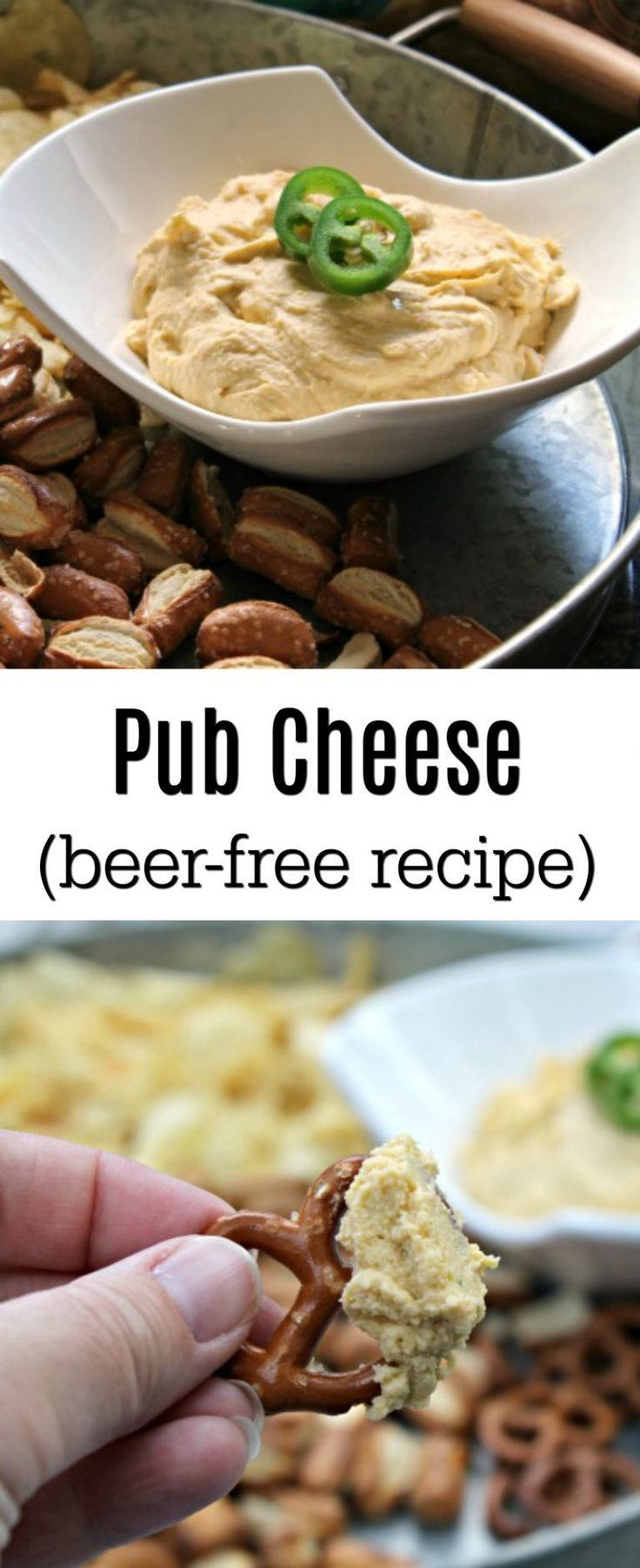 Homemade Pub Cheese (No Beer Recipe)  - A pub favorite, easily made at home for last minute entertaining.  Plus, this version is beer-free, making it okay to serve to the family! #SnackSnapShare #SnackStories #ad