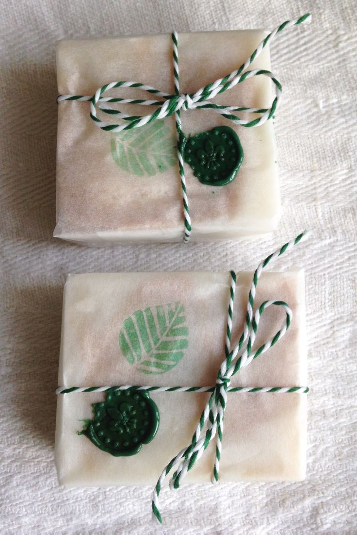 Homemade soap wrapping