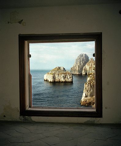 Incredible view from Casa Malaparte in Capri as photographed by François Halard.