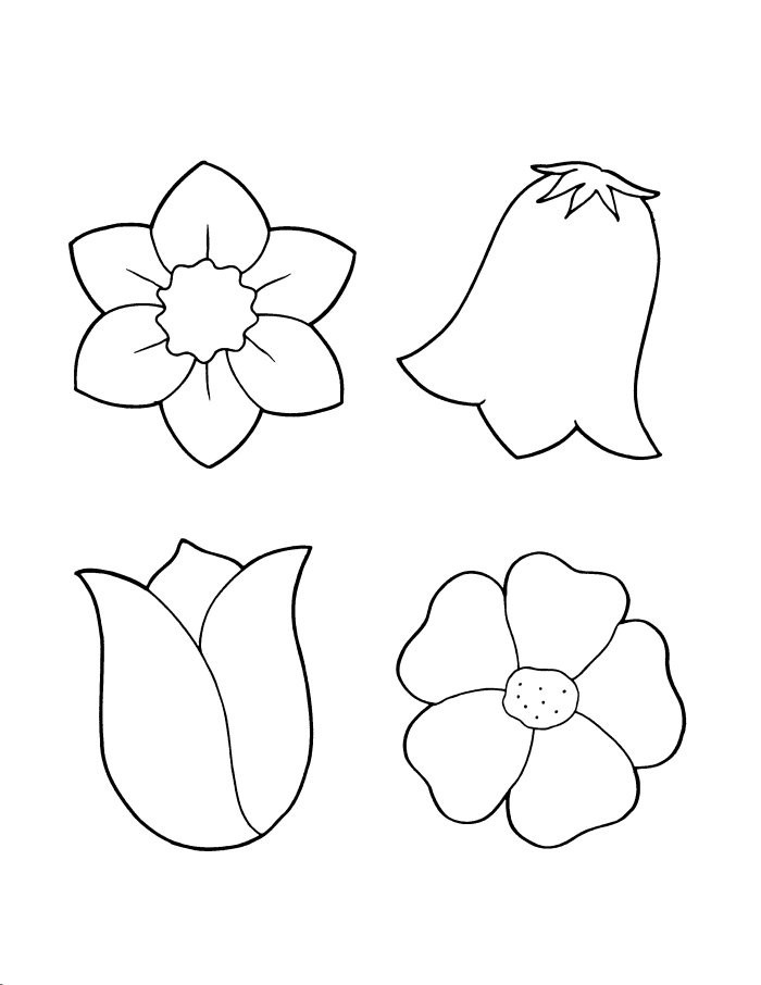Spring Flower Coloring Sheets | Bulletin Board cut-outs ...