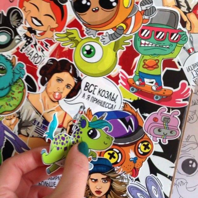@idiotstile:  Единорожек много не бывает! А в новом стикербуке их будет множество!⚡️Unicorns are never too much! There are a lot of them in my new stickerbook!  #idiotstile #unicorns #unicorn #cuteunicorn #stickers #stickerart #stickerbombing #idiotstilestickers #stickerbook #stickerbomb