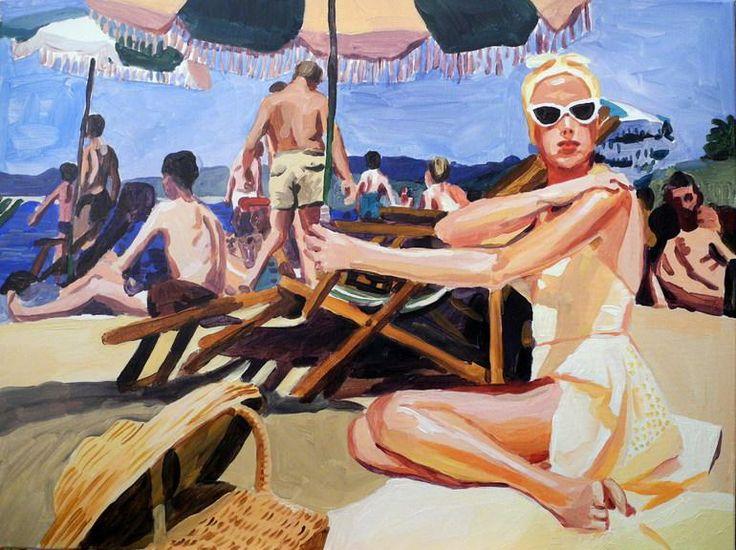 Retro #beach scene. #summer