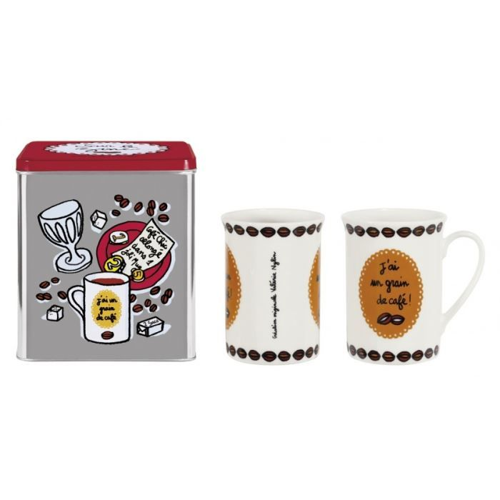Set de mugs avec boîte Sur le Zinc