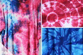Batik selber machen – DIY-Anleitung für T-Shirts + Batikfarben – Batik selber machen