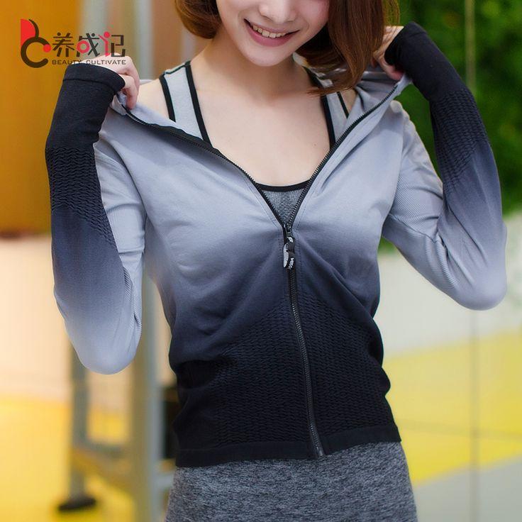 Купить Женщин Спортивные Куртки Молнии С Капюшоном Работает Пальто Новый Серый…