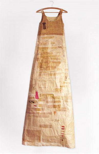 ℘ Paper Dress Prettiness ℘ art dress made of paper  by Elisabeth LeCourt