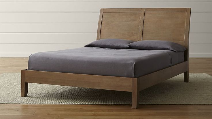 Dawson Grey Wash Sleigh Bed Grey Wash Crates And Barrels