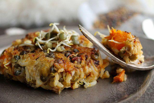 Galettes végétales de riz, lentilles et potimarron {sans gluten} | Emilie and Lea's Secrets