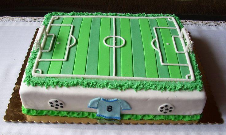 Fotbalové hřiště pro malého fotbalistu -  Soccer Field Cake