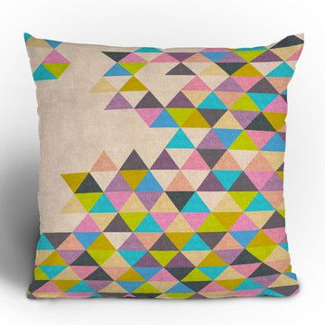Incomplete geometric triangle throw pillow.