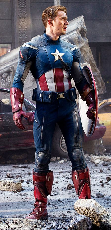Chris Evans as Capt. America...omg