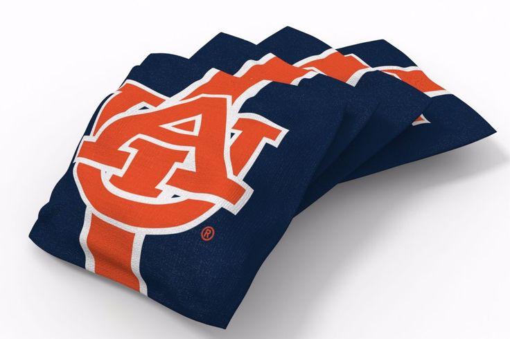 Auburn Tigers Stripe Bean Bags-4pk (A)