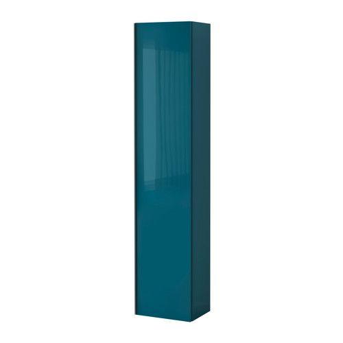 kanske för mörkt? GODMORGON Högskåp - högglans turkos - IKEA  pris 1 795 kr / styck Artikelnummer: 102.406.55   10 års garanti;  flyttbara hyllplanen; 40x30x192 cm
