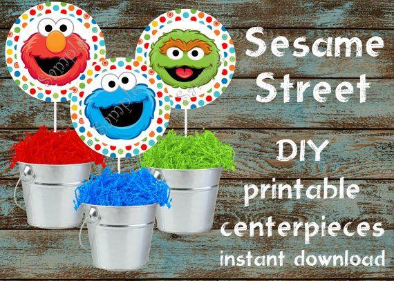Sesame Street Centerpieces Sesame Street by 954onlineinvitations