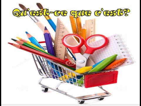 6 Qu'est ce que c'est? fournitures scolaires II الأدوات المدرسية بالفرنسية