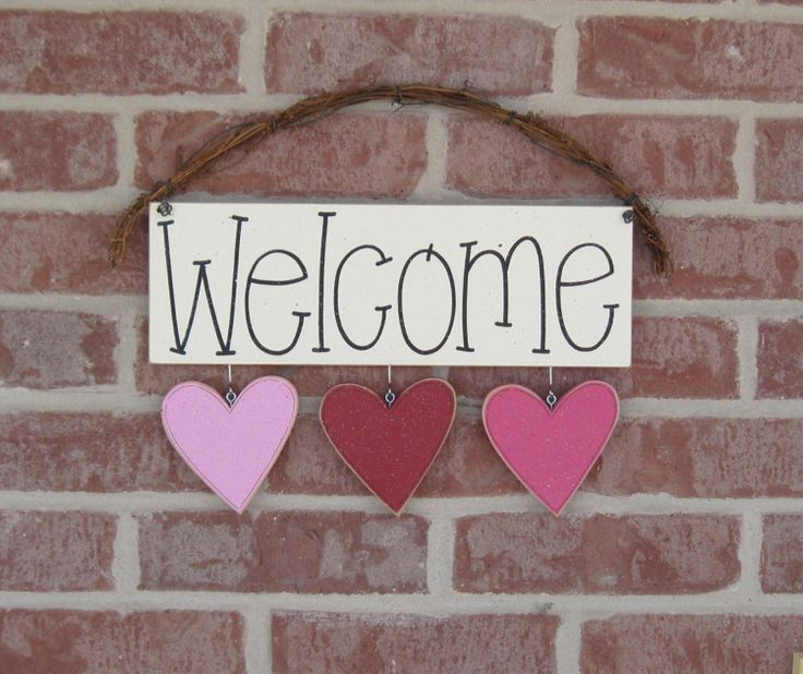 Monthly Welcome Sign (FEBRUARY) for wall and home decor