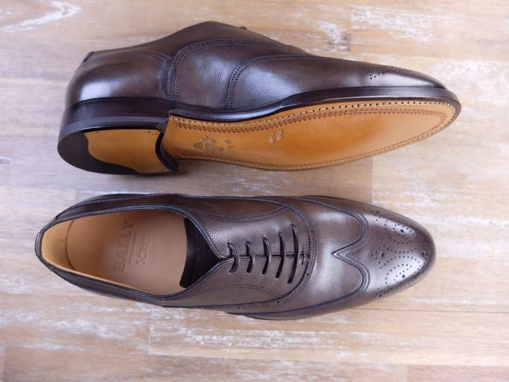 auth BALLY SCRIBE brown leather shoes - Size 7.5 US / 6.5 UK / 40.5 EU - New in Box | eBay