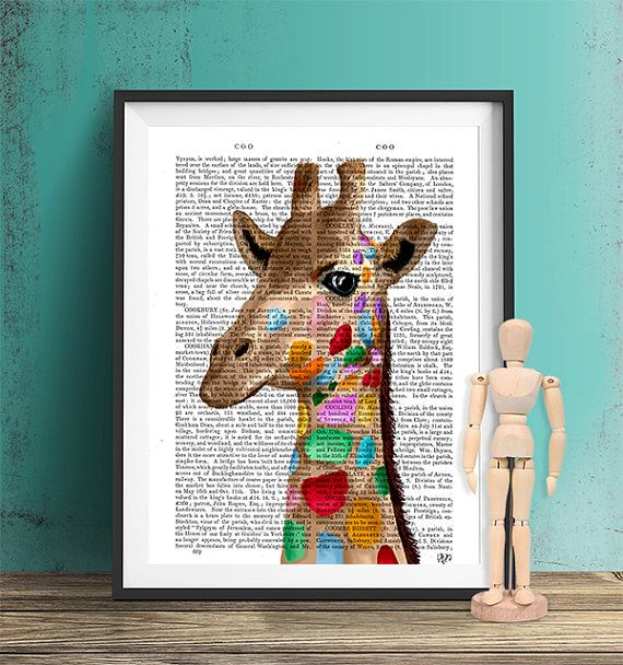 Multicoloured Giraffe Print Giraffe Print giraffe by FabFunky