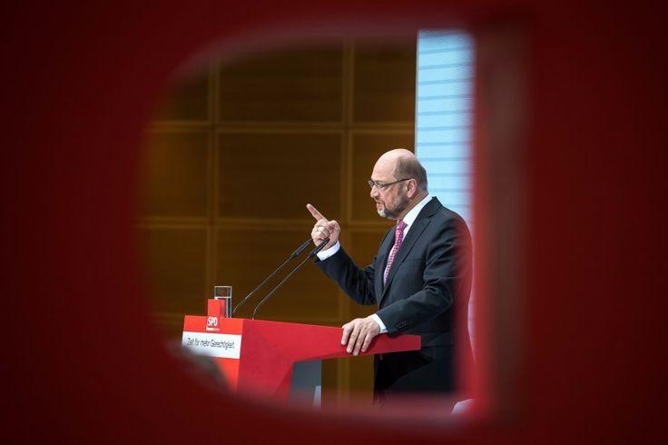 30. januar: SPD-Kanzlerkandidat Martin Schulz äußert sich bei einer Pressekonferenz nach der Klausurtagung des Bundesvorstands der Sozialdemokratischen Partei Deutschlands (SPD) in der Parteizentrale, dem Willy-Brandt-Haus, in Berlin.