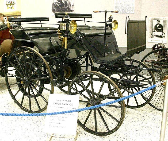 Antique 1886 Daimler Motor Carriage