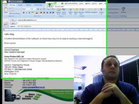 (32) Dragon NaturallySpeaking and Email - YouTube